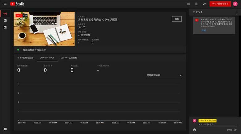 YouTube Studio画面